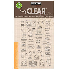 Hero Arts Clear Stamps 4X6 - Town Essentials UTGÅENDE