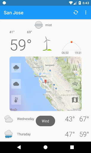 San Jose,CA - weather and more 1.0 screenshots 2
