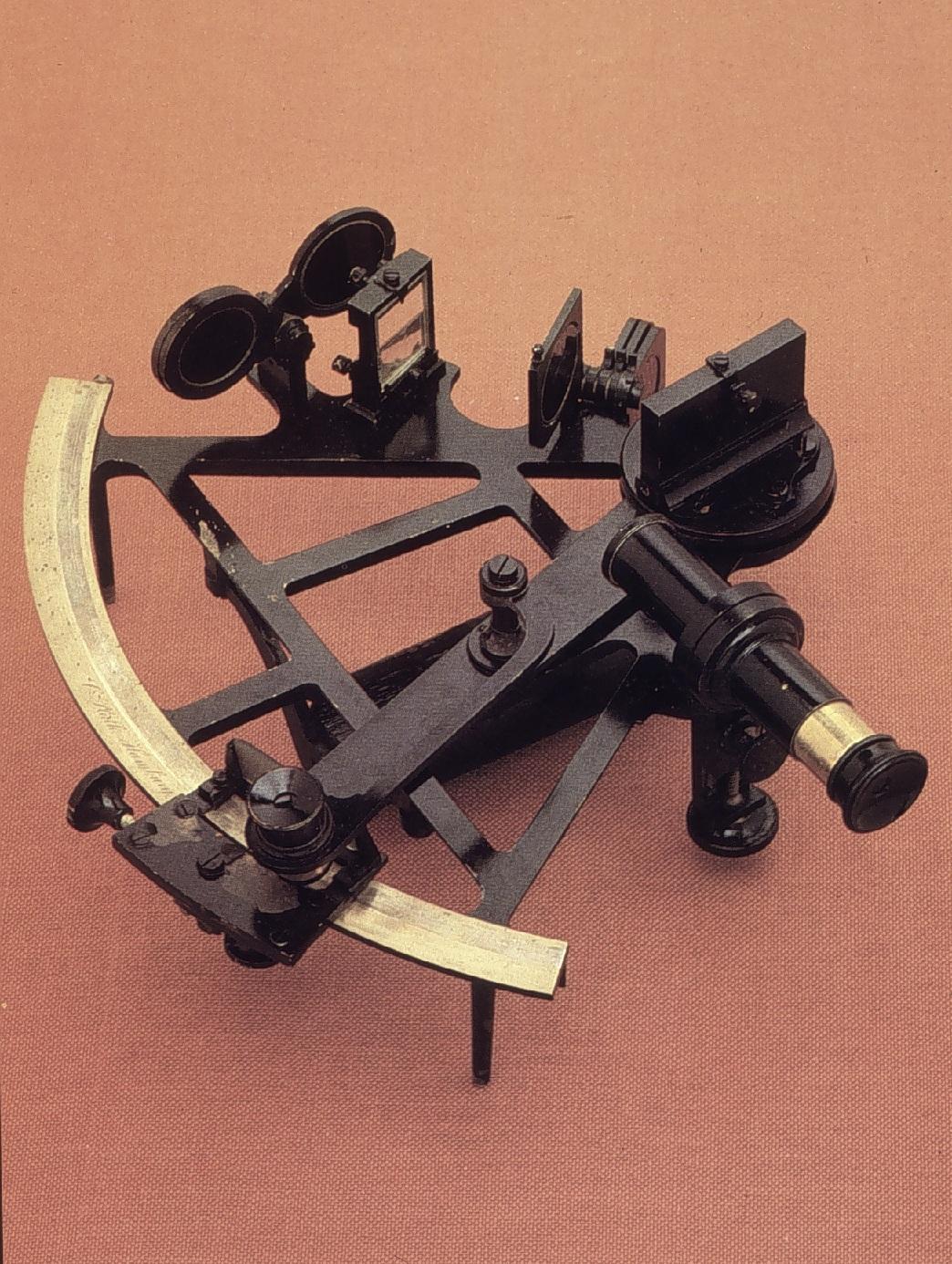 Partes de un sextante marino