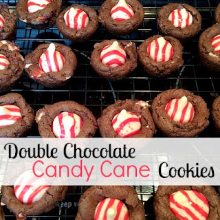 Double Chocolate Candy Cane Cookies.