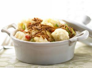 Bran-topped Cauliflower Escallop Recipe