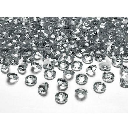 Dekorationsdiamanter - Grå