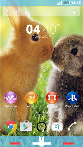for xperia theme bunny love
