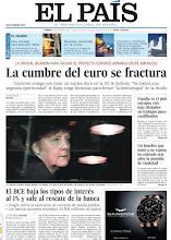 Photo: La cumbre del euro se fractura y el BCE baja los tipos al 1% de interés, en nuestra portada http://www.elpais.com/static/misc/portada20111209.pdf
