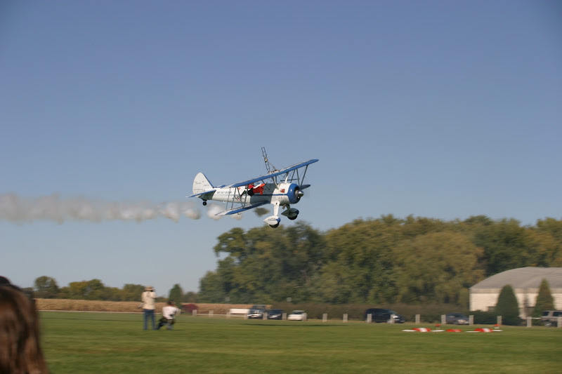 Photo: Dave and Tony doing their wing walking thing