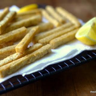 Chickpea Fries with Yogurt Tahini Dip.