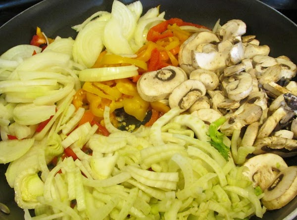 Then add sliced mushrooms. Cook over medium high heat.Stirring to prevent sticking season with...