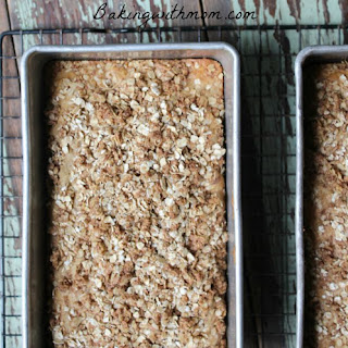 Apple Cinnamon Bread With Crumb Topping.