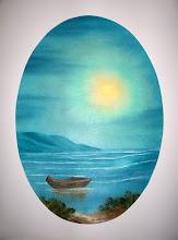 "Photo: 2410 Rowboat On The Beach. Oil on canvas. 18"" x 24"" $229.00"