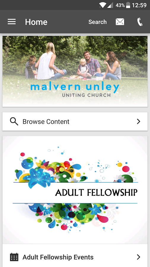 Malvern Uniting- screenshot