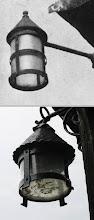 Photo: Lantern on church porch (Late 1940s)