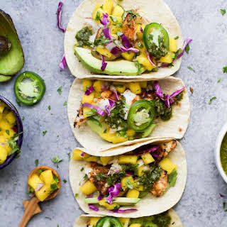 Grilled Fish Tacos with Mango Salsa.