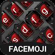 Black&Red Skull Flower Keyboard Theme for Snapchat APK