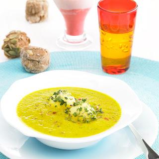 Möhren-Zucchinicremesuppe