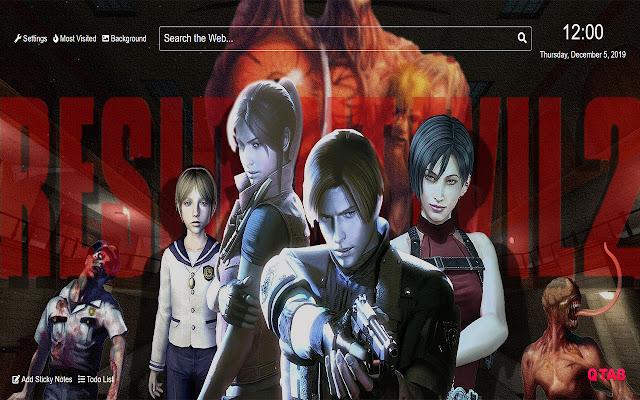 Resident Evil 2 Wallpaper for New Tab