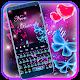 Glitter Neon Purple Butterfly Keyboard Theme Download for PC Windows 10/8/7