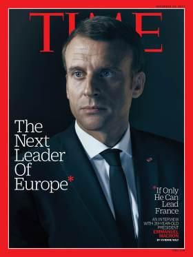 Next Leader of Europe Emmanuel Macron Time Magazine Cover