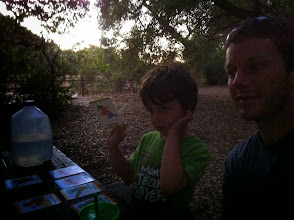 Photo: Clark and Daddy Go Fish