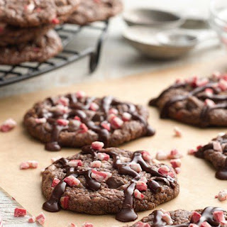Peppermint Fudge Brownie Cookies