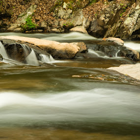 River run by James Woodward - Nature Up Close Water ( rocks, creek, waterscape, long exposure, water,  )