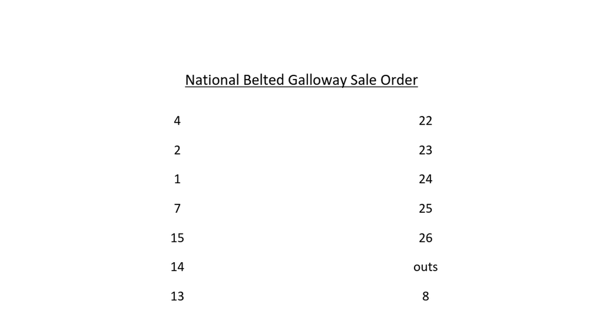 National Belted Galloway Sale Order Docx Google Drive