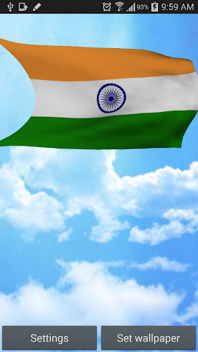 3D India Flag Live Wallpaper