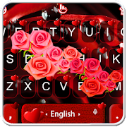 Romantic Red Heart Keyboard Theme