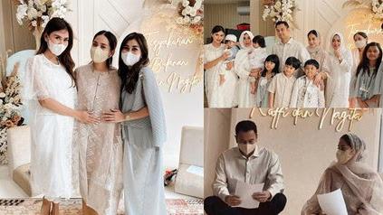 8 Potret Raffi Ahmad Gelar Tasyakuran Kehamilan 4 Bulan Nagita Slavina, Pesona Cantik Bumil Bikin Netizen Gagal Fokus - KapanLagi.com
