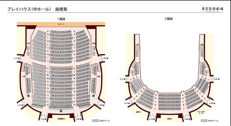 東京芸術劇場プレイハウス座席表