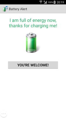 100% Battery Alert - screenshot