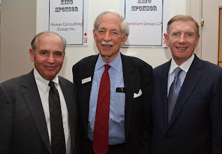 Photo: Ned Notis McConarty (Hemenway & Barnes), BBF President Jack Clymer, and BBA President Paul Dacier.