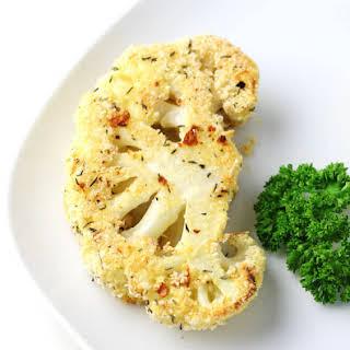 Parmesan Crusted Cauliflower Steaks.
