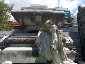 Photo: The Recoleta cemetery, where tons of famous people are buried. I didn't care for the famous people but instead focused more on the architecture / design oftombstones
