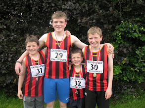 Photo: Jack, Daniel, Dillon & David Ryan, Moycarkey Coolcroo A.C. who all took part in the Cork City Sports 2012 Juvenile 300m Gala.