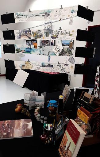 """expo """"Carnet de voyage"""" Naples _J PAPA _Bibliothèque Montigny sur Loing"""