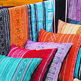 Pillows by Richard Michael Lingo - Artistic Objects Furniture ( color, vietnam, artistic objects, furniture, pillows,  )