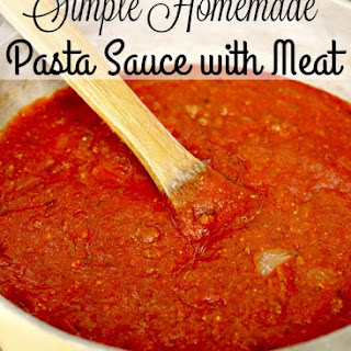 Simple Homemade Pasta Sauce with Meat.