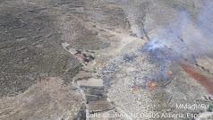 Imagen del incendio publicada por Plan Infoca en su cuenta de Twitter.