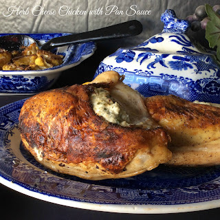 Herb Cheese Chicken with Pan Sauce.