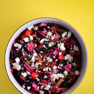 Beet and Rhubarb Salad