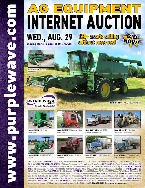 Photo: Ag Equipment Auction August 29, 2012 http://purplewave.co/120829