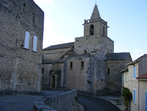Photo: Now back in Venasque, for a little more touring of our home village, here at the 11th century Romanesque Church of Notre Dame.
