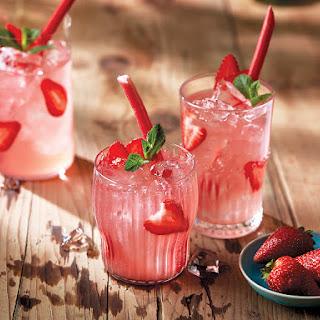 Strawberry-rhubarb Sangria.