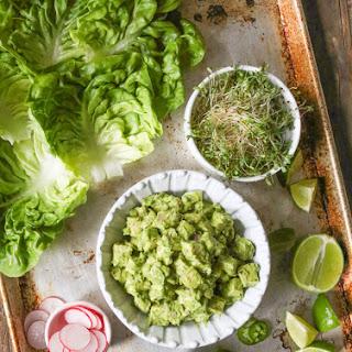 Avocado Chicken Salad Lettuce Wraps
