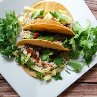 Slow Cooker Chicken Street Tacos.