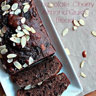 Chocolate Cherry Almond Quick Bread