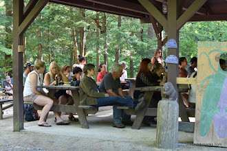 Photo: Some of the audience at Make Music VT in Jamaica State Park by Bill Steele