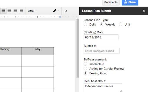 An Add On For Simplifying Of Teacher Lesson Plans Quick And Easy Comment By A Reviewer