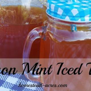 Lemon Mint Iced Tea.