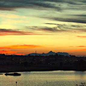 Late Evening by Awang Kassim - City,  Street & Park  Vistas ( sunset )